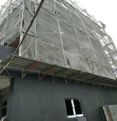 台中某大樓 外牆防水工程 隔熱工程